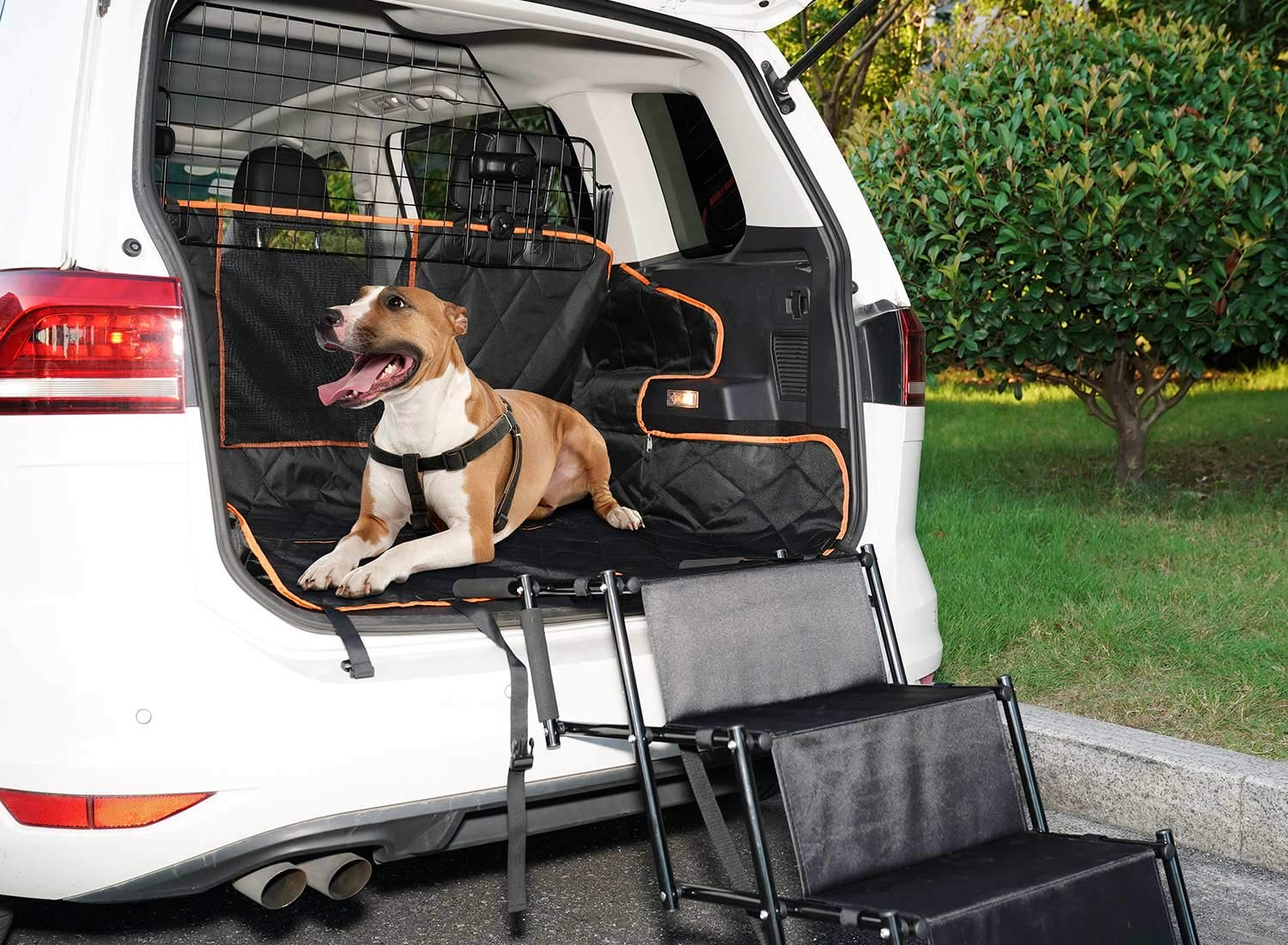 SUKI&SAMI Dog Car Barrier Adjustable Pet Barrier for SUVs,Cars and Vehicles,Heavy Duty Wire Adjustable,Smooth Design,Black by SUKI&SAMI (Image #8)