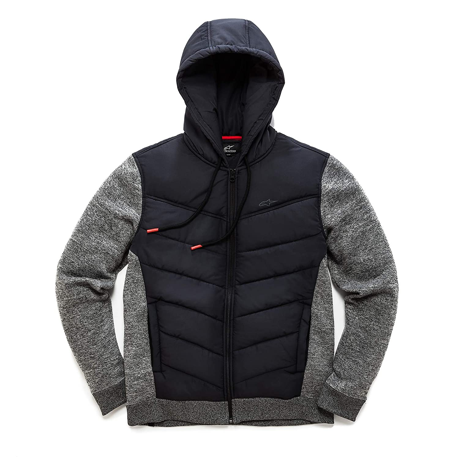 Image of Alpinestars Men's Hybrid Jacket, Quilted Hood and Chest, Stretch Fleece