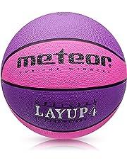 meteor® Mini Basketball fur Kinder & Jugend - Größe #4 Rosa - ideal auf die Kinderhände 5-10 Jährigen abgestimmt idealer Basketball für Ausbildung weicher Basketball mit griffiger Oberfläche
