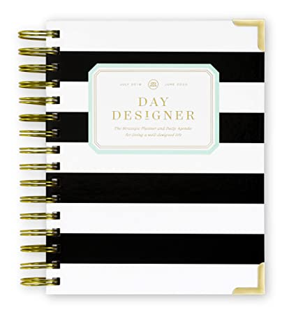 picture about Daily Designer titled Working day Designer 2019-2020 Mini Day by day Lifestyle Planner and Routine, Hardcover, Dual-Twine Binding, 6.625\