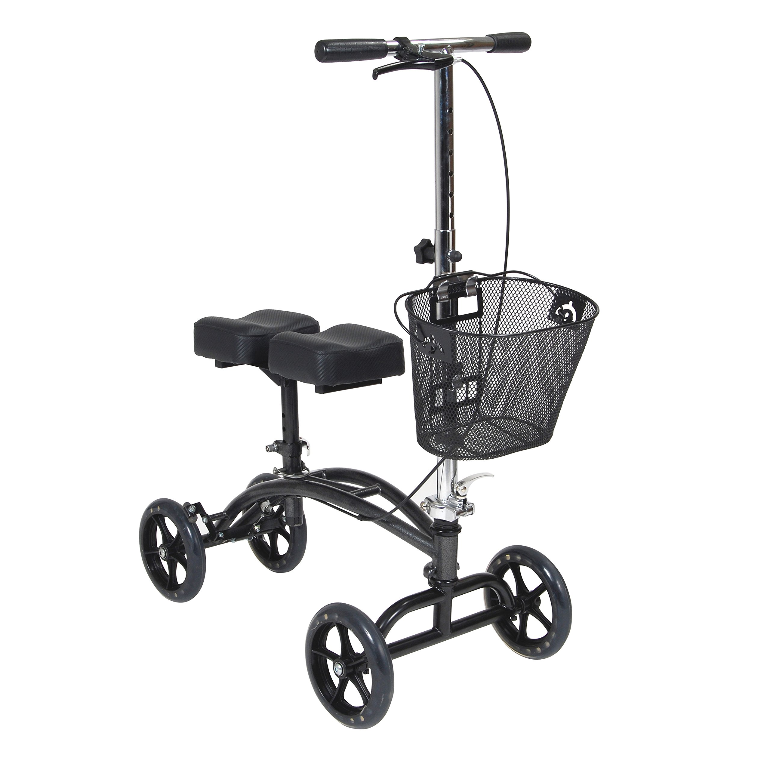 Drive Medical Dual Pad Steerable Knee Walker with Basket, Alternative to Crutches by Drive Medical