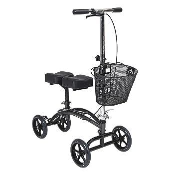 Amazon.com: Andador de rodilla con cesta orientable y doble ...