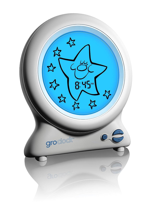 Gro-Clock - Reloj para bebés, color blanco (HJ008) [Enchufe UK]: Amazon.es: Bebé