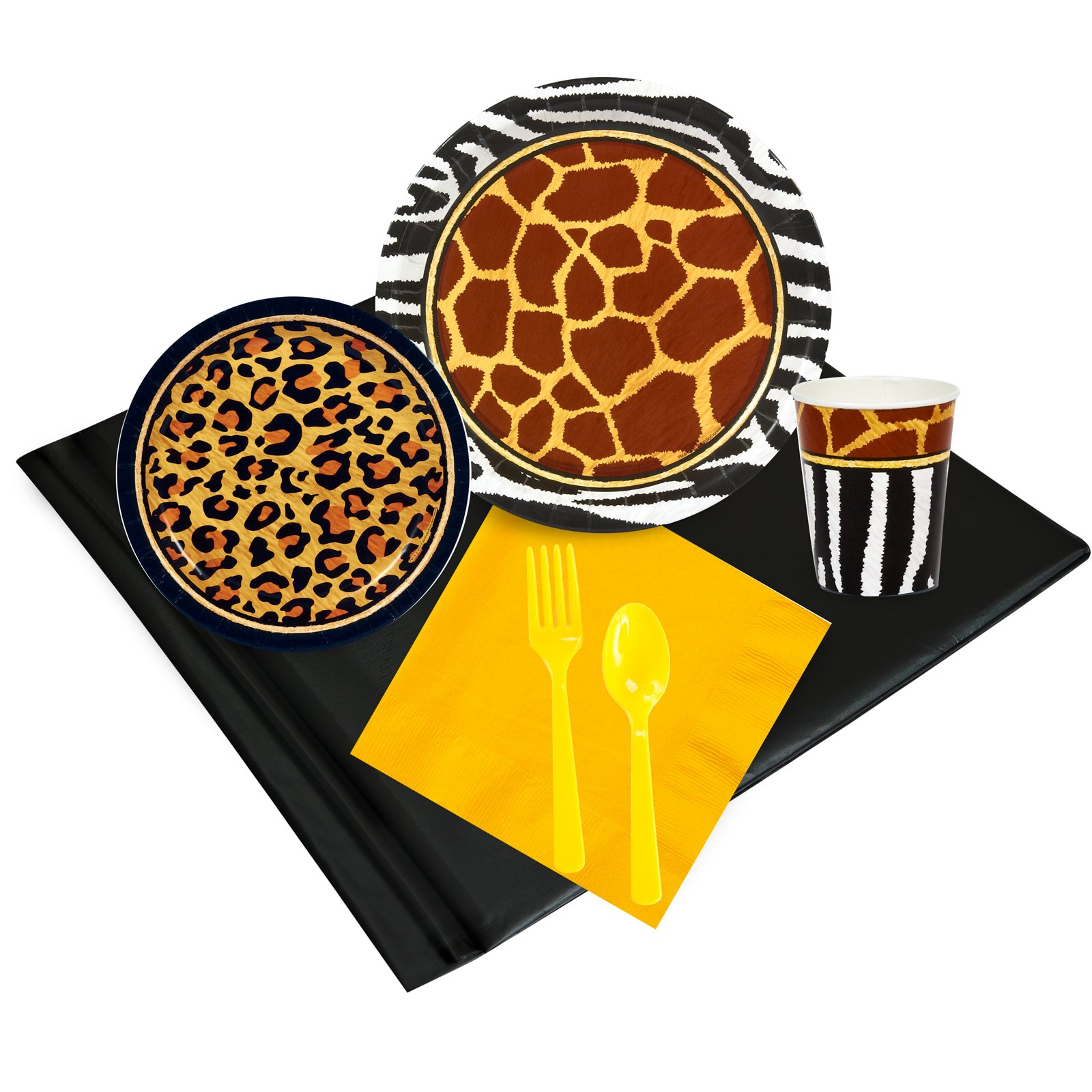 Safari Adventure Party Childrens Birthday Party Supplies - Tableware Party Pack (24)