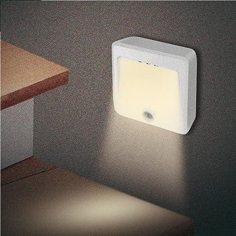 GAO Orientación LED Luz con detector de movimiento para interior/exterior, funciona con pilas