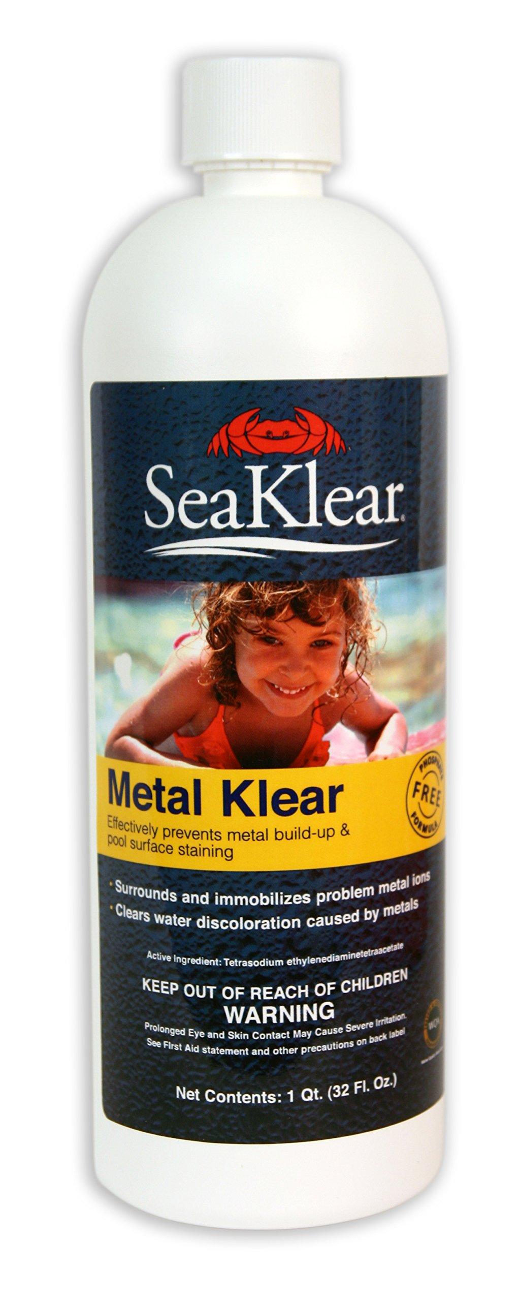 SeaKlear Metal Klear Stain Treatment Solution, 1-Quart by SeaKlear