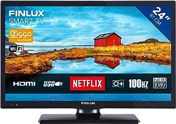 Finlux FL2423SMART - Televisor de alta definición (24 pulgadas, sintonizador triple, Smart TV con mando a distancia): Amazon.es: Electrónica