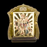 Autofy Universal car Dashboard Accessory Lord Krishna Temple/Shield (Golden)