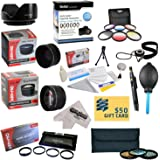 25 Piece Advanced Lens Package For The Panasonic Lumix DMC-FZ70 FZ72 & FZ70K Digital Cameras Includes 0.43X HD2 Wide Angle Panoramic Macro Fisheye Lens + 2.2x HD AF Telephoto Lens + 3 Piece Pro Filter Kit (UV, CPL, FLD) + 6 Piece Multi-Colored Graduated Filter Set + 5 PC Close-Up Set (+1, +2,+4 with 10X Macro Lens) + Flower Lens Hood + Tube Adapter + Deluxe Lens Cleaning Kit + 5PC Lens Cleaning Pen + Snap On Lens Cap + Air Blower Cleaner + Lens Cap Keeper Holder + LCD Screen Protectors + Mini