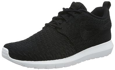 Nike Herren Flyknit Roshe Run NM Laufschuhe, Schwarz Black
