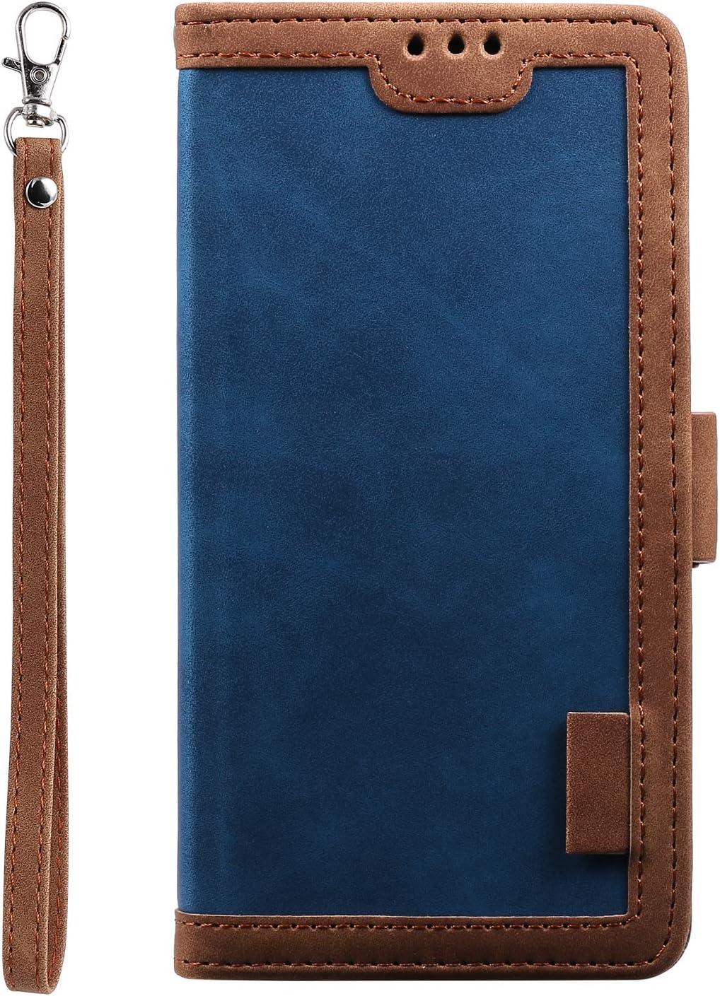 Tosim Coque iPhone XR TOHHA160065 Bleu Portefeuille /Étui en Cuir Synth/étique Fonction Stand Case Housse Folio /à Rabat Compatible avec Apple iPhone XR