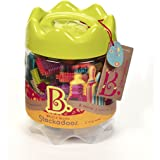 B.Toys 比乐 布莱斯特鬃毛积木 68粒桶装套装 带收纳桶 感官训练 早教玩具 婴幼儿童益智玩具 礼物 2岁+ BX1175Z