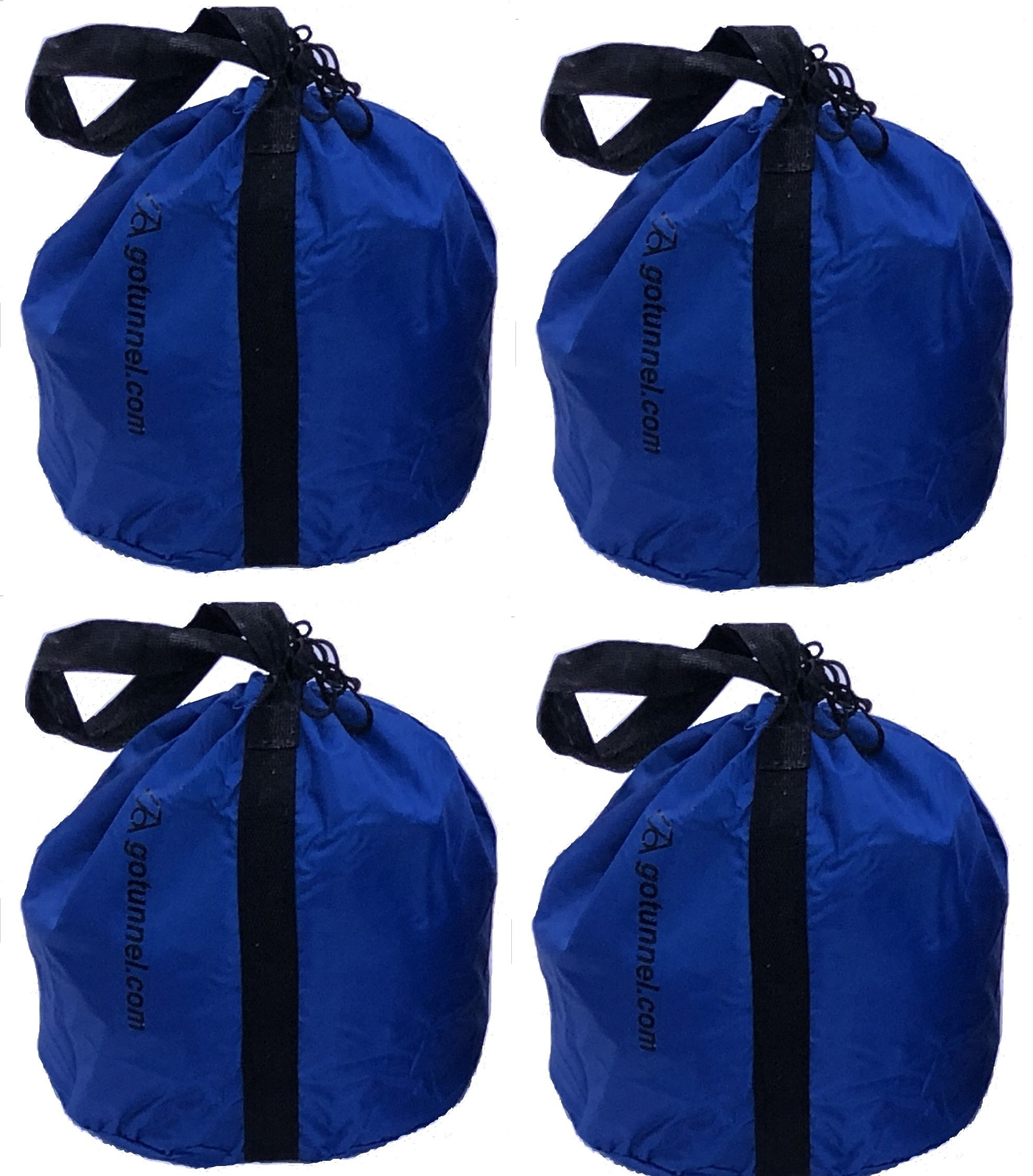 Economy Sand Bag Anchor Bags (with Handles) - Weights for Dog Agility Tunnels, Soccer Goals, Tents, Canopies, Photography, Production Events, Mic Stands and Other Equipment - 4 Bag Set by gotunnel