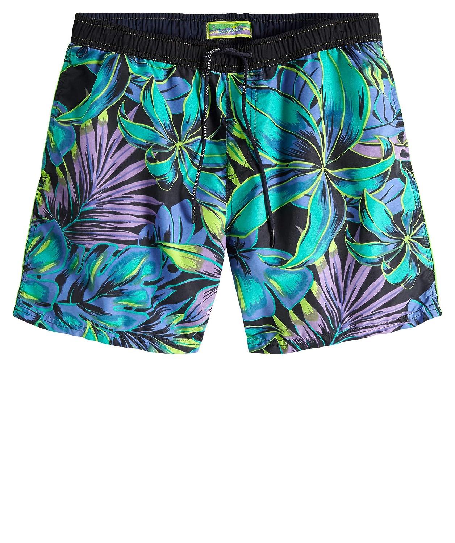54e76b358f0 Amazon.com: Scotch & Soda Men's Classic Swim Shorts with Summer All ...