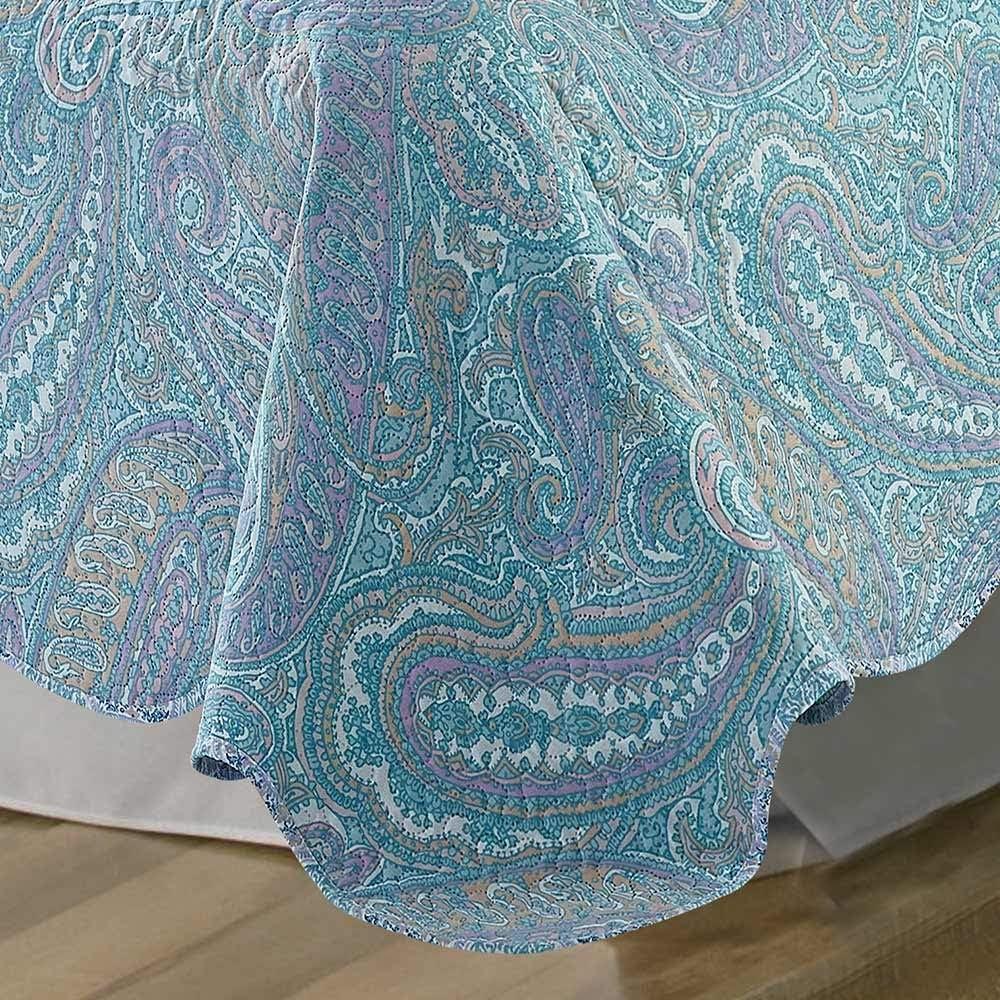 PimpamTex 180 x 270 cm, Acacia Colcha Bouti Estampada Reversible para Cama de 90 y 105