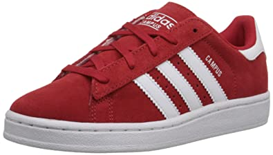 adidas Originals Campus C Shoe (Little Kid), Scarlet Red/White/Scarlet