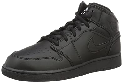 Nike Air Jordan 1 Mid Black/White UK 3