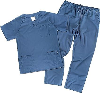 Work Team Uniforme Sanitario, con elástico y cordón en la Cintura, Casaca y Pantalon Unisex