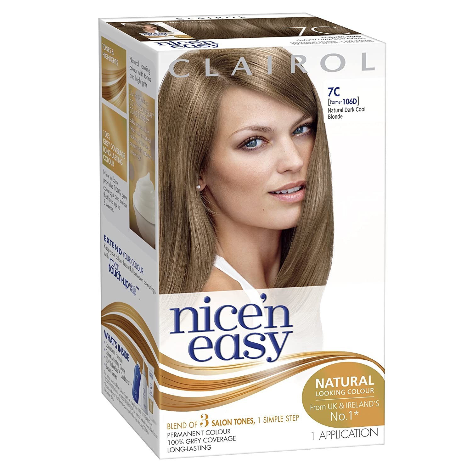 Amazon clairol nice n easy hair color natural dark cool amazon clairol nice n easy hair color natural dark cool blonde 106d chemical hair dyes beauty solutioingenieria Images