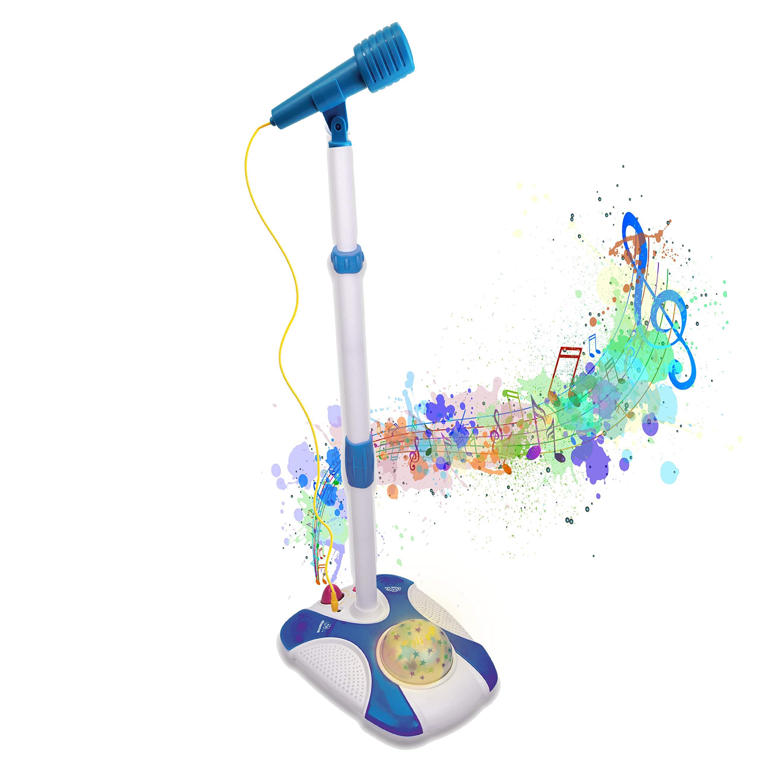 YuHuaFUShi Kids Karaoke Machine Microphone with Adjustable Stand Singing Karaoke Machine for Toddler Girls Pink