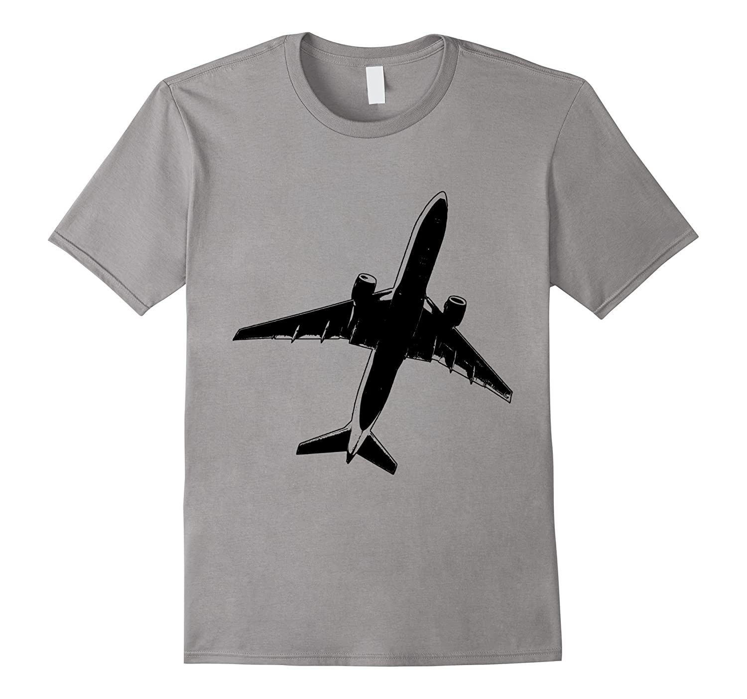 Flying Airplane t-shirt Plane Jet Airliner Silhouette-T-Shirt