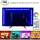 TV LED posteriore di illuminazione Kit, 200cm 5V striscia USB RGB LED, Bias Illuminazione per HDTV e PC Monitor