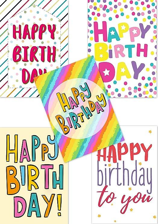 Greetingles - 15 tarjetas de cumpleaños y sobres llamativos ...