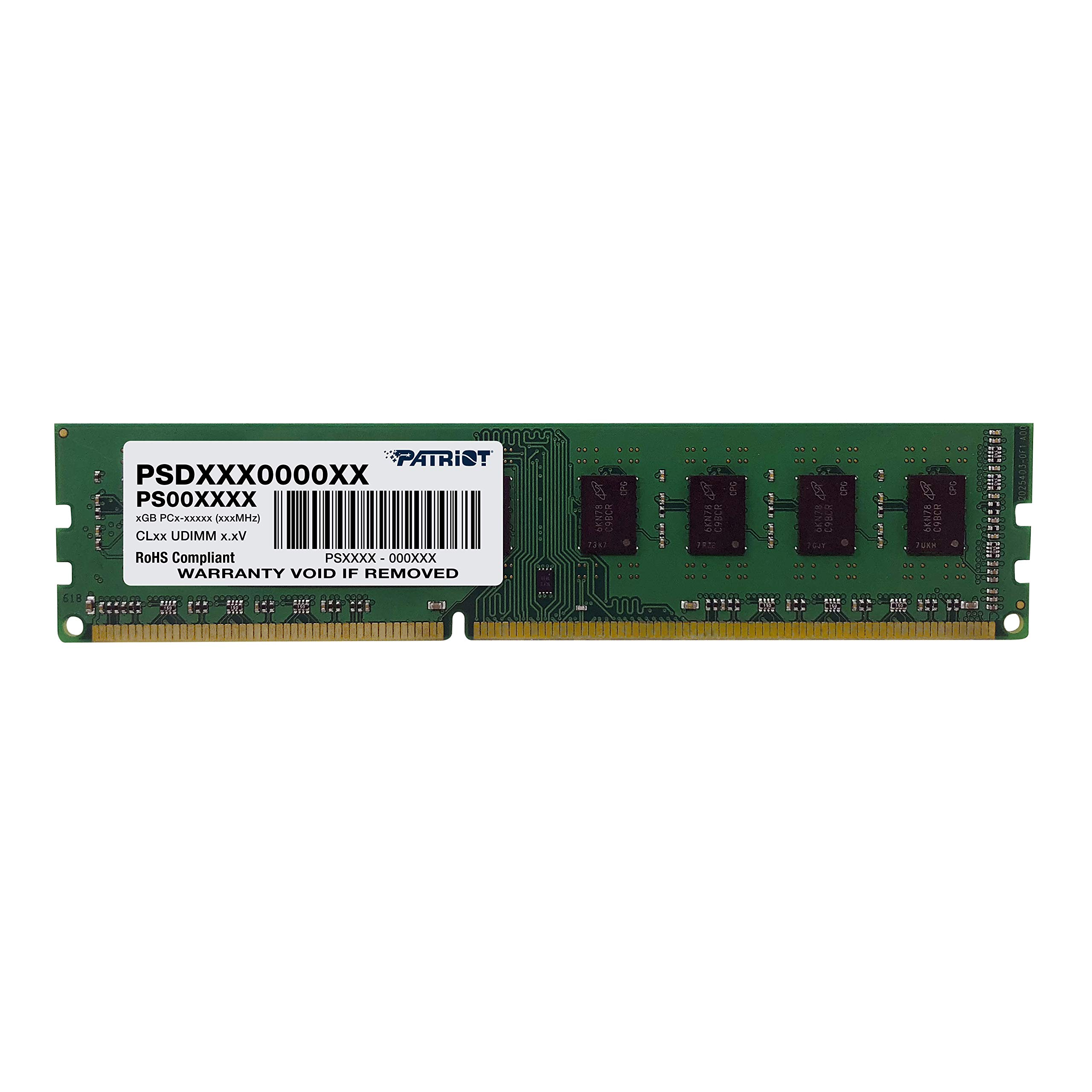 Patriot Signature 8GB DIMM DDR3 CL11 PC3-12800 (1600MHz) PSD38G16002 by Patriot