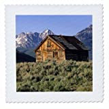 3dRose Log Cabin and Sawtooth