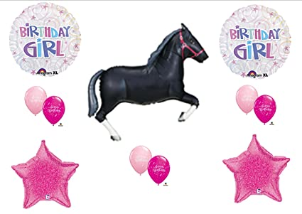 Amazon Black Horse COWGIRL Rodeo Western BIRTHDAY GIRL PARTY