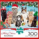 Meowy Christmas 300-Pcs. Large Format Jigsaw Puzzle by Buffalo Games
