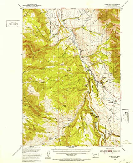 Cliff On A Topographic Map.Amazon Com Yellowmaps Cliff Lake Mt Topo Map 1 62500 Scale 15 X