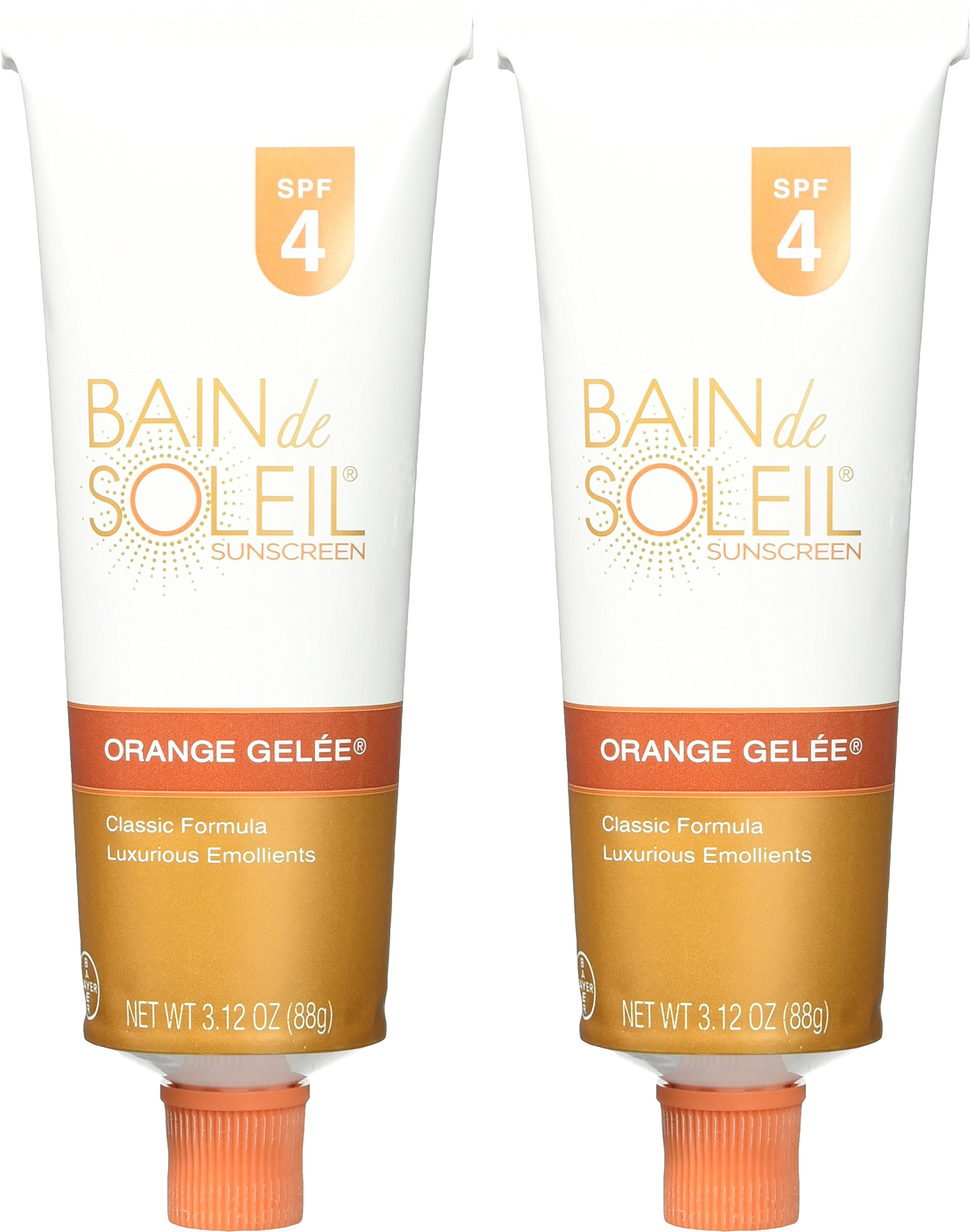 bain de soleil orange gelee sunscreen spf 4 oz pack. Black Bedroom Furniture Sets. Home Design Ideas