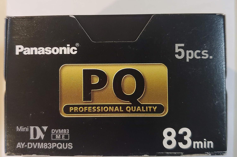 Panasonic AY-DVM83SQ AYDVM83SQ Studio Quality Lot de 5 mini cassettes DV 83 min