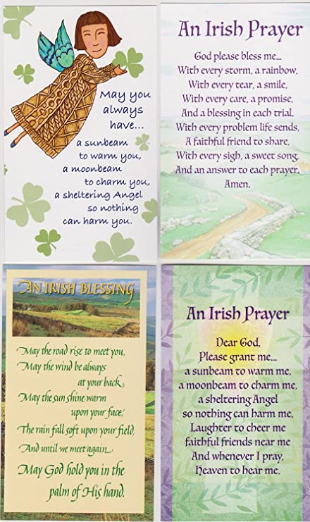 Amazon com: Irish Blessing Holy Prayer Cards Includes May