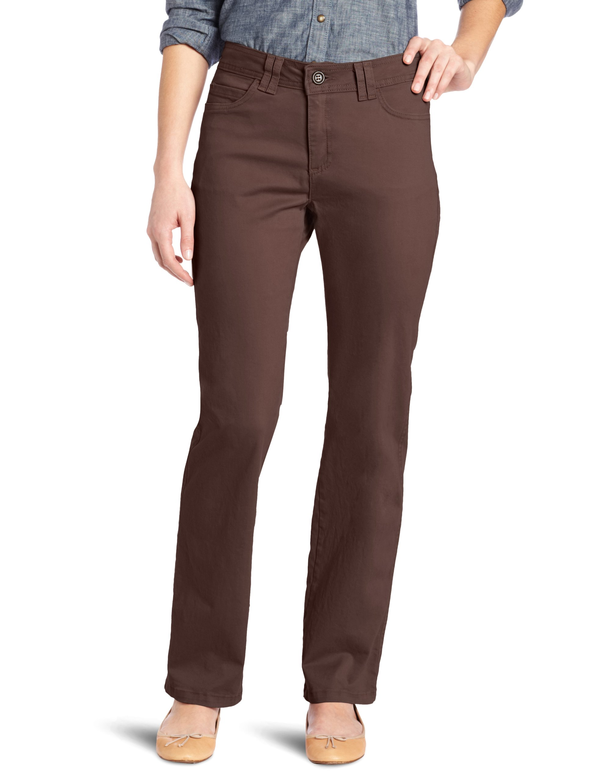 Lee Women's Classic Fit Jackie O Straight Leg Pant, French Roast, 12