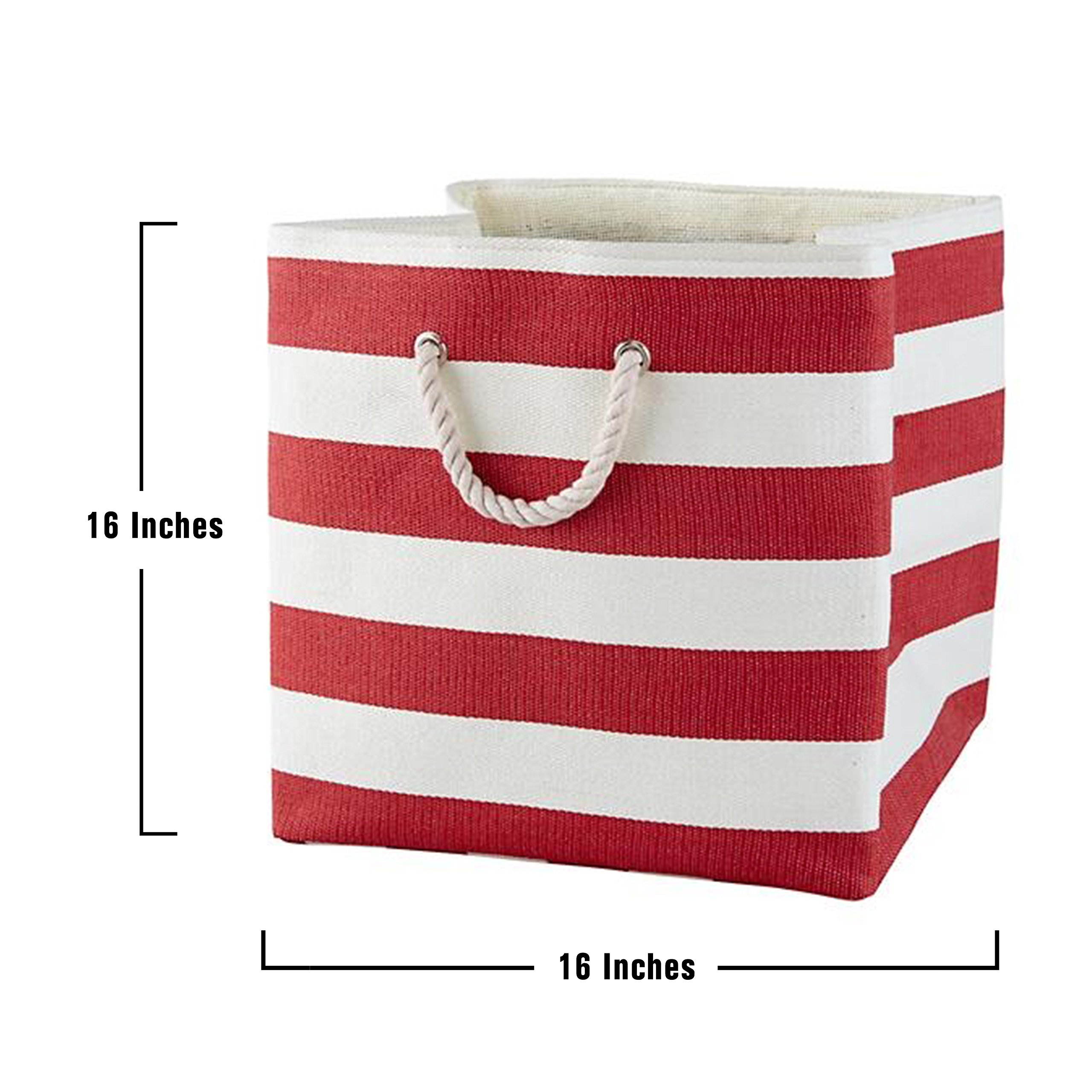 Large Storage Baskets and Bins - Store Toys, Laundry, Clothes for a Bedroom, Kids Room, Nursery, Home Office, Living or Family Room - Red by Betty Rhae