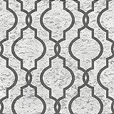 geometrico carta da parati in sughero (grigio, antracite, e argento)