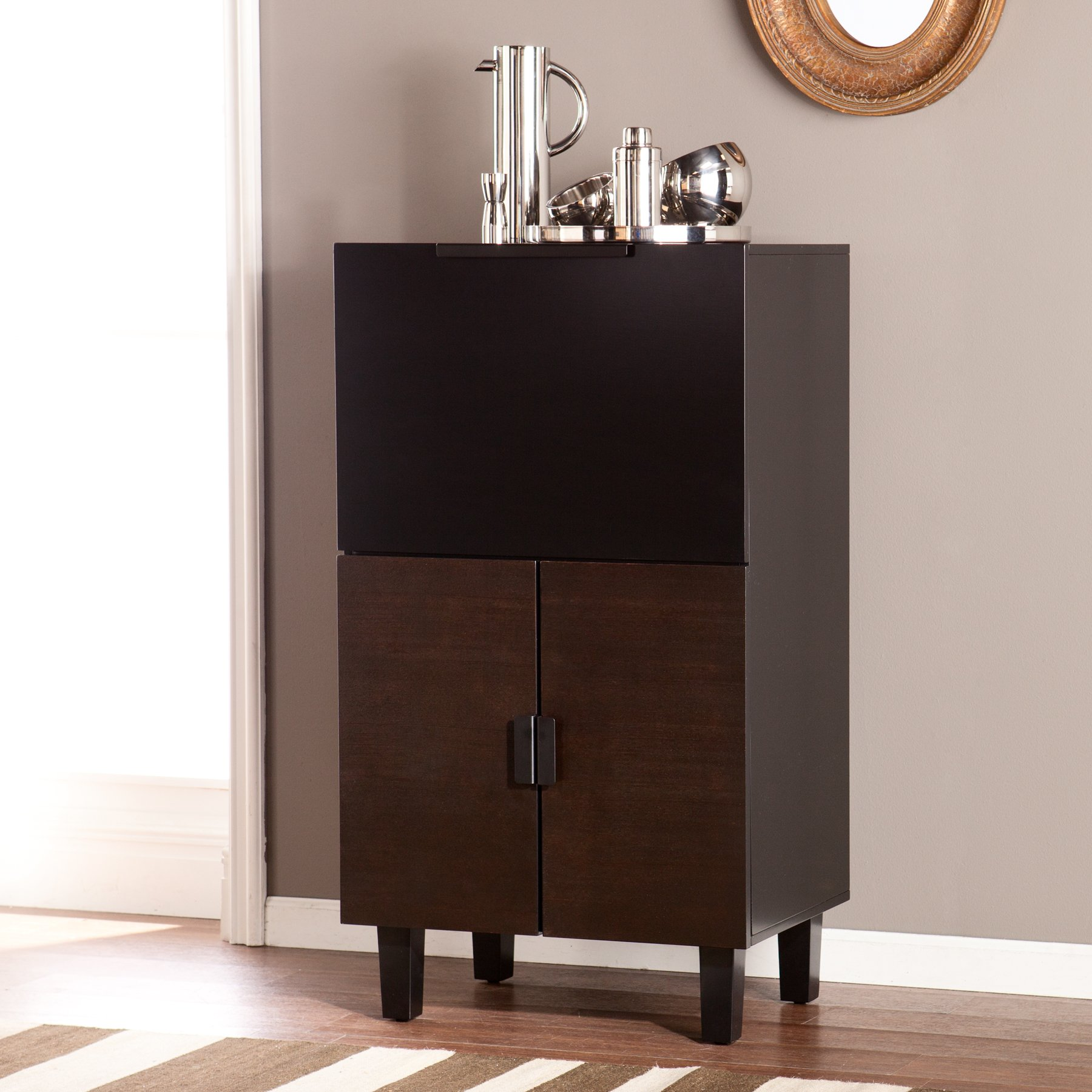 Southern Enterprises Redding Bar Cabinet by Southern Enterprises
