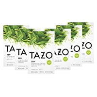 Tazo Zen Green Tea Bags for an invigorating cup of green tea Zen Tea helps you feel focused and zen 20 count pack of 6