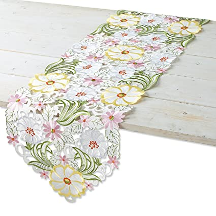 Amazon Current Spring Floral Polyester Table Runner 13 X 69