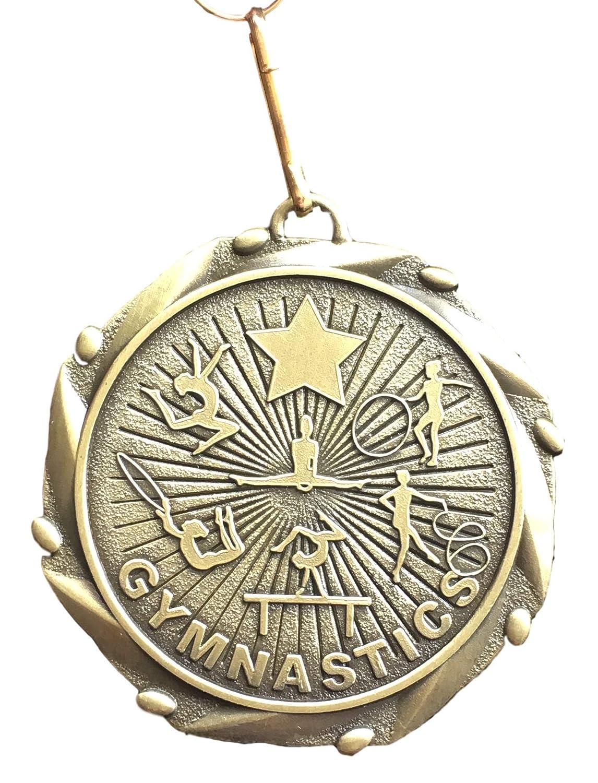 Emblems-Gifts Achet/ée personnalis/é Femelle Gymnastique Award M/édaille avec Ruban