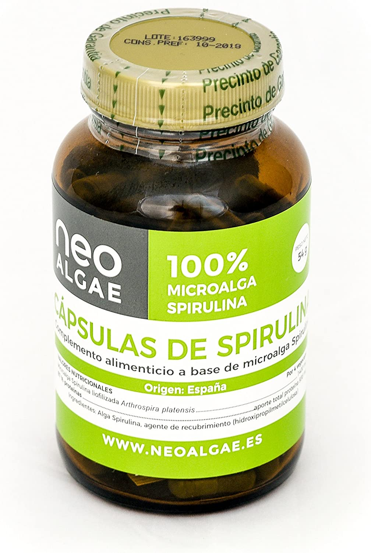 Cápsulas de Spirulina Neoalgae: Amazon.es: Salud y cuidado personal