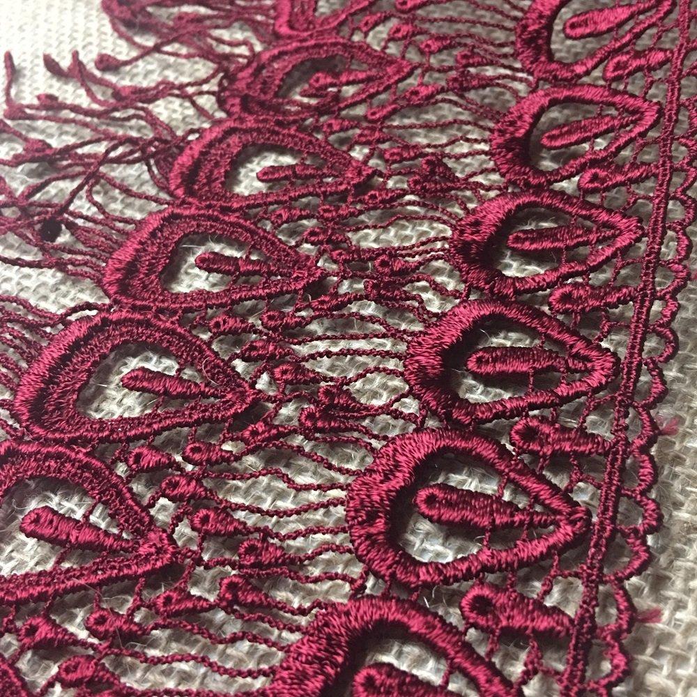 Bridal Tops Black 2 Yard Garments Slip Extenders Multi-use Ex Veils Lace Trim Peacock Fringe Design 6 Wide Multiple Colors Available Costumes