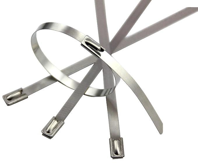 1 opinioni per Fascette fermacavi in acciaio inossidabile, per tubi di scarico e a