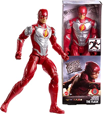 """THE FLASH METALLIC ARMOR Articulated 12/"""" Action Figure! DC Justice League"""