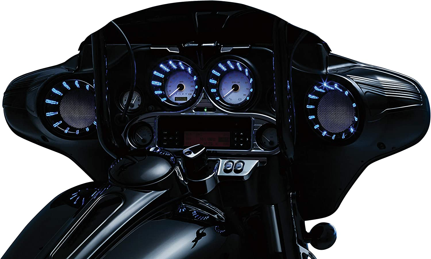 Kuryakyn 7289 LED Speedo and Tach Bezel