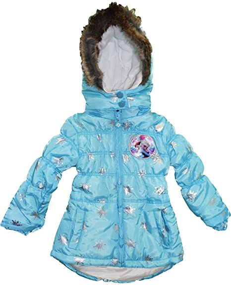 Unika Girls Disney Frozen Anna Elsa Winter Padded Jacket / Coat / Parka NK-82