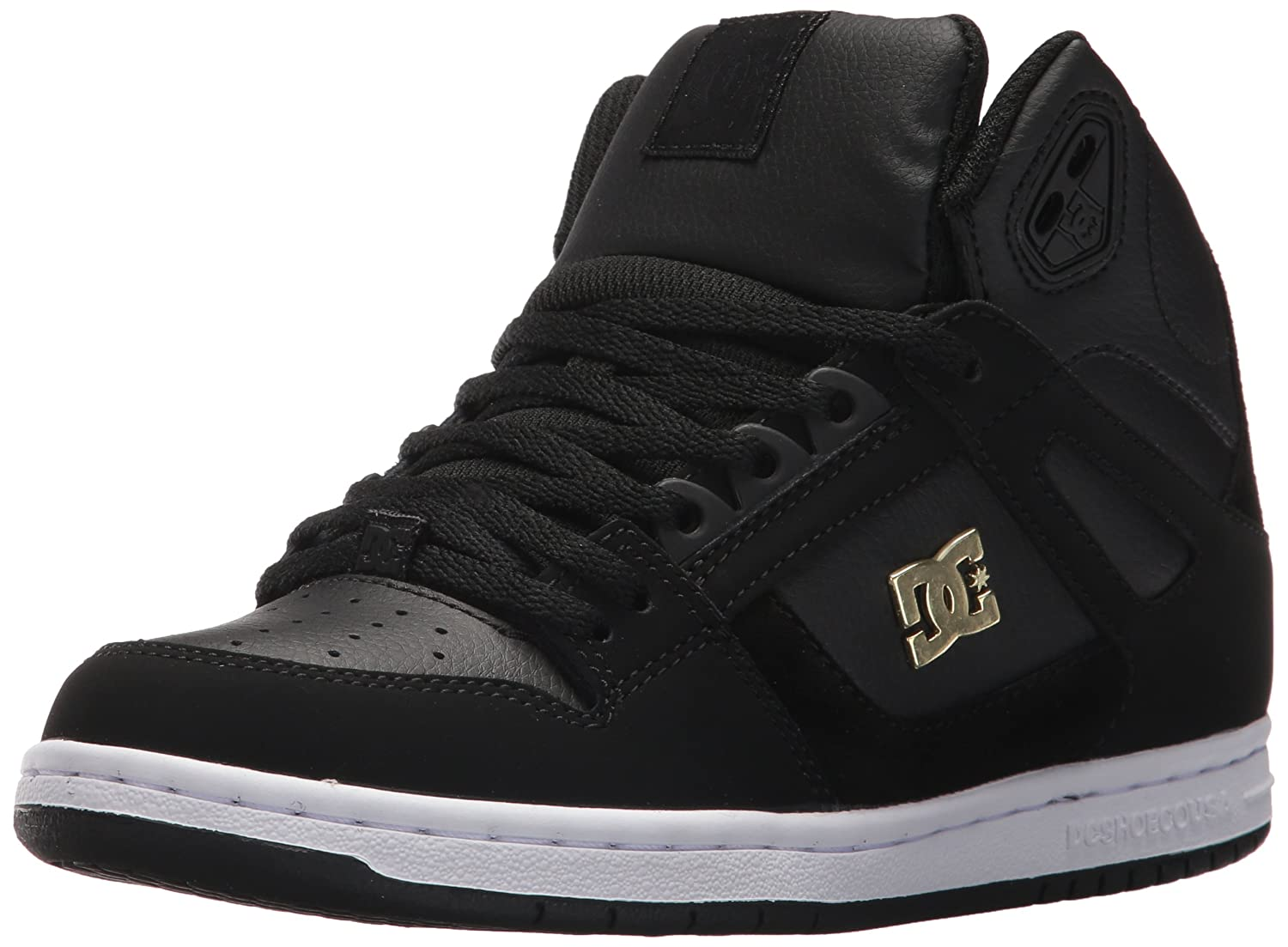 DC Women's Rebound High Tx Se Skate w Skateboarding Shoe B06Y5T9T8S 9.5 B B US|Black/Gold