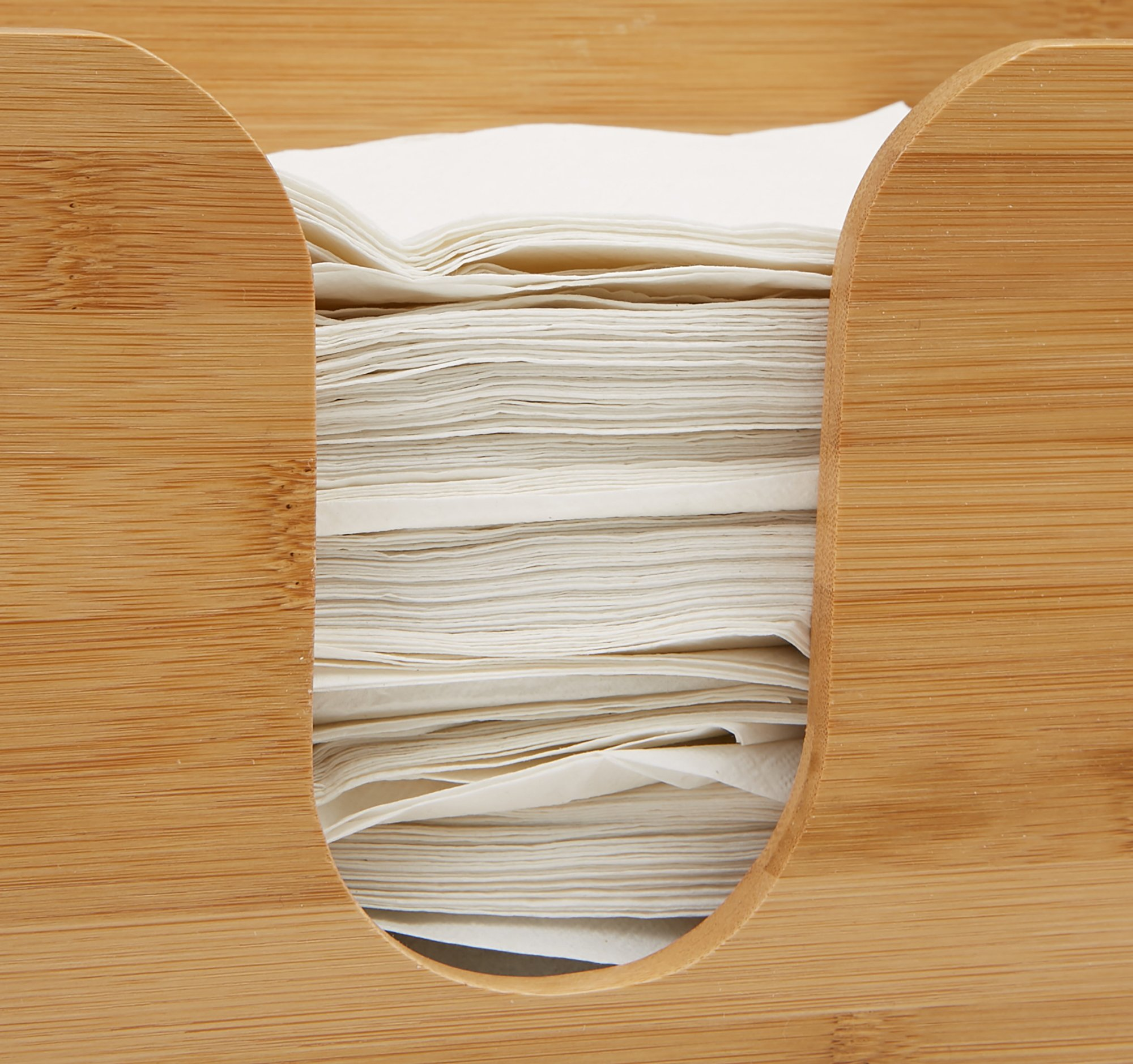Mind Reader Bamboo Wall Mount Interfold Napkin Dispenser Organizer, Brown by Mind Reader (Image #4)
